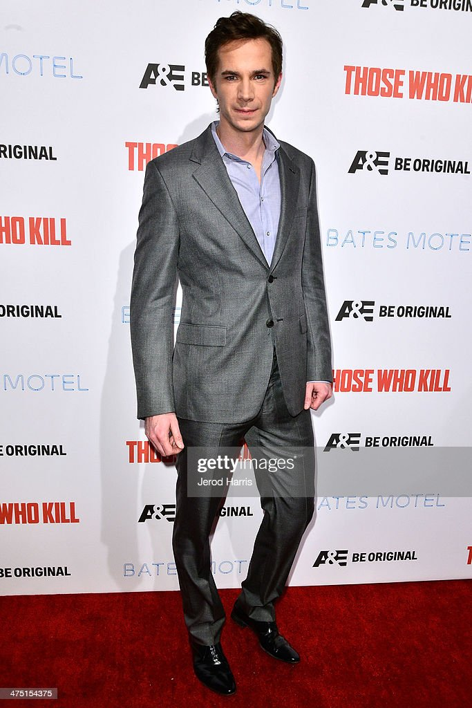 Actor <a gi-track='captionPersonalityLinkClicked' href=/galleries/search?phrase=James+D%27Arcy&family=editorial&specificpeople=228414 ng-click='$event.stopPropagation()'>James D'Arcy</a> attends the premiere party for A&E's Season 2 Of 'Bates Motel' & series premiere of 'Those Who Kill' at Warwick on February 26, 2014 in Hollywood, California.