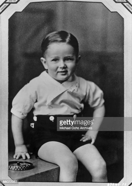 Actor James Dean as a child in 1933 in Marion Indiana