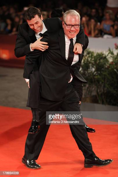 Actor James Deen and screenwriter Bret Easton Ellis attend 'The Canyons' Premiere during The 70th Venice International Film Festival at Sala Grande...
