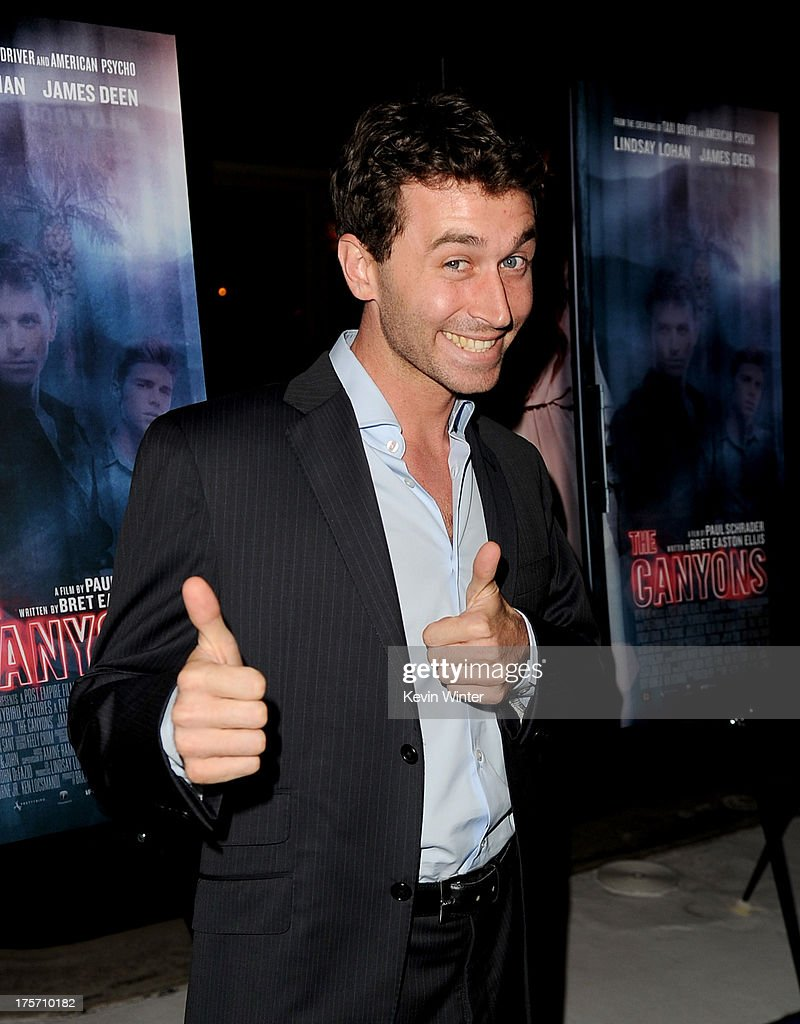 Actor <a gi-track='captionPersonalityLinkClicked' href=/galleries/search?phrase=James+Deen+-+Actor+-+Born+1986&family=editorial&specificpeople=5659450 ng-click='$event.stopPropagation()'>James Deen</a> arrives at the premiere of IFC Film's 'The Canyons' at The Standard Hotel on August 6, 2013 in Los Angeles, California.