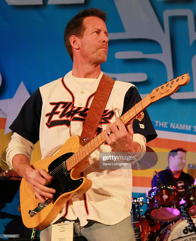 Actor <a gi-track='captionPersonalityLinkClicked' href=/galleries/search?phrase=James+Denton&family=editorial&specificpeople=211169 ng-click='$event.stopPropagation()'>James Denton</a> performs on stage with Band From TV at the 110th NAMM Show - Day 3 at the Anaheim Convention Center on January 21, 2012 in Anaheim, California.