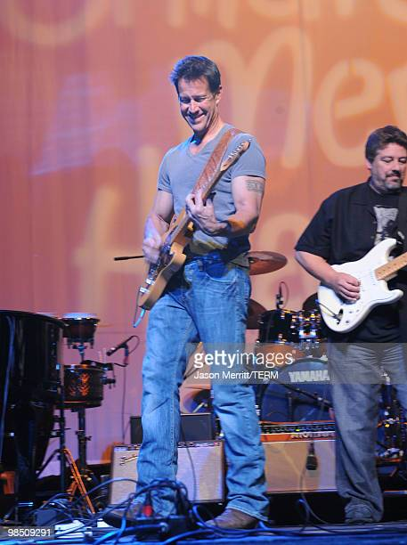 Actor James Denton performs with Band From TV at the Children Mending Hearts 3rd Annual 'Peace Please' Gala held at The Music Box at the Fonda...
