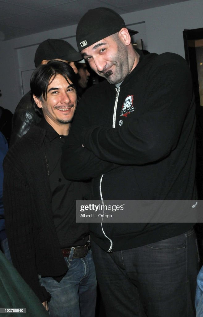 Actor James Duval and actor Nick Principe attend the Screening and Q&A for 'ColdWater' at The Los Angeles Film School on February 26, 2013 in Hollywood, California.