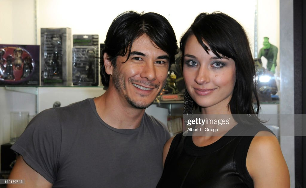 Actor James Duval and actress Cortney Palm participate in the Blu-ray And DVD Release Party For Magnolia Home Entertainment's 'Sushi Girl' held at Dark Delicacies Bookstore on February 19, 2013 in Burbank, California.