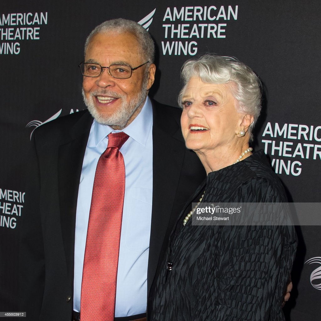 Actor James Earl Jones (L) and actress Dame Angela Landsbury attend the 2014 American Theatre Wing Gala on September 15, 2014 in New York City.