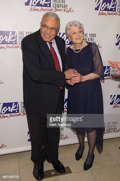 Actor James Earl Jones and Oscar Hammerstein Award Honoree and Actress Angela Lansbury attends the 24th Annual Oscar Hammerstein Award Gala at...