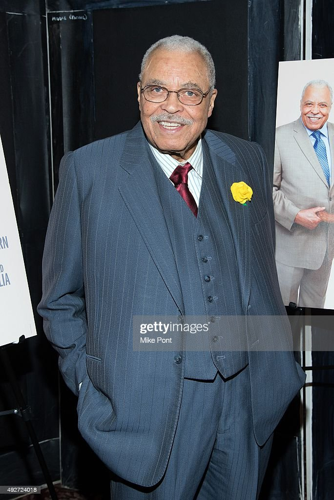 Actor James Earl Jones attends 'The Gin Game' Broadway opening night after party at Sardi's on October 14, 2015 in New York City.