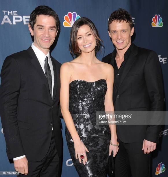 Actor James Frain actress Summer Glau and actor David Lyons arrive at the premiere of NBC's 'The Cape' on January 4 2011 in Hollywood California