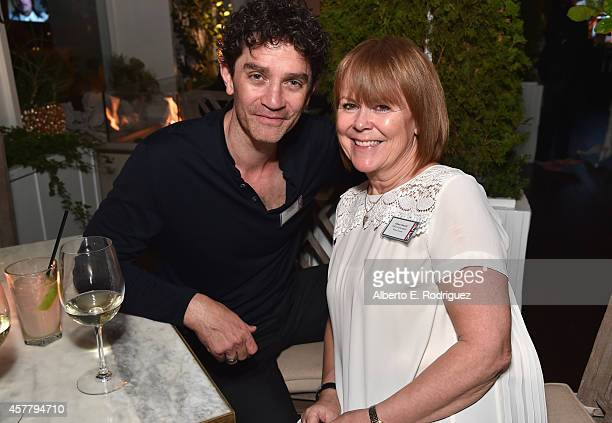 Actor James Frain and Wales Screen's Allison Dowzell attend a British Film Commission UK Film TV Week industry reception at Herringbone Mondrian LA...