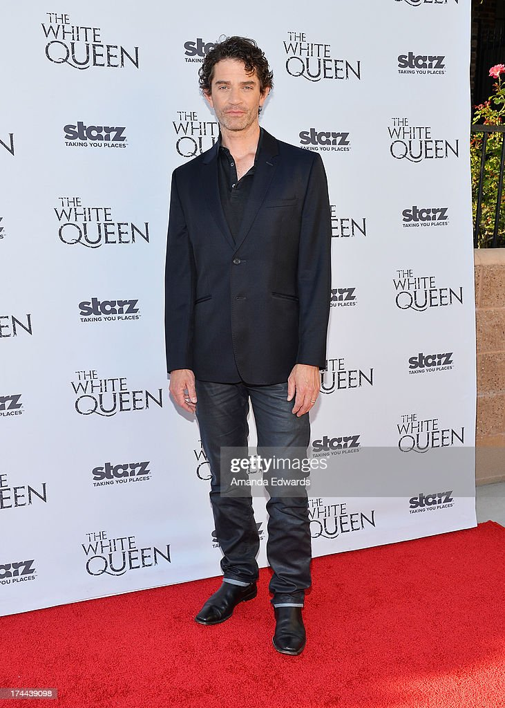Actor James Frain arrives at 'Cocktails with the Queen' - the British Consulate's toast to the U.S launch of the Starz original series 'The White Queen' at the British Consul General's Residence on July 25, 2013 in Los Angeles, California.