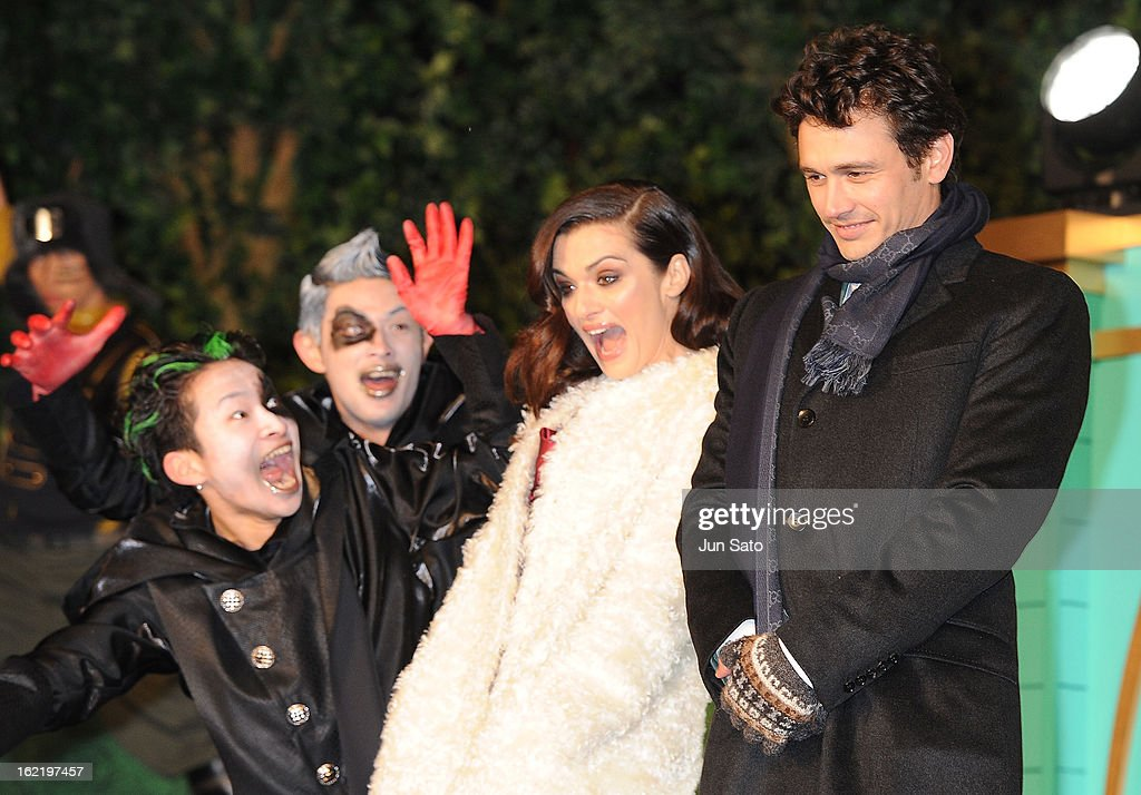 Actor <a gi-track='captionPersonalityLinkClicked' href=/galleries/search?phrase=James+Franco&family=editorial&specificpeople=577480 ng-click='$event.stopPropagation()'>James Franco</a> and actress Rachel Weizs attend the 'Oz: the Great and Powerful' Japan Premiere at Roppongi Hills on February 20, 2013 in Tokyo, Japan.