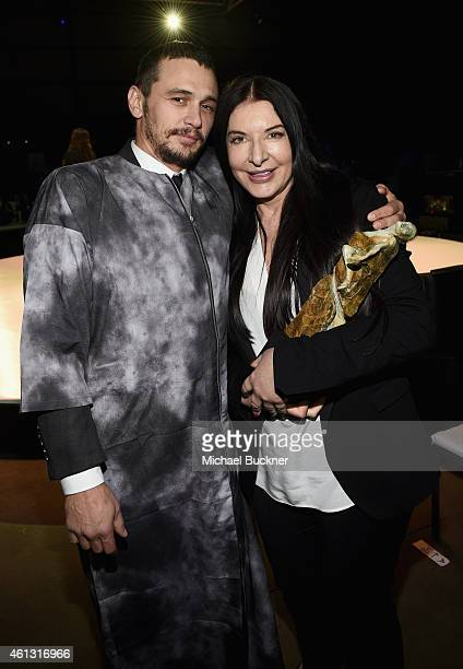 Actor James Franco and Art of Elysium Creative Visionary Marina Abramovic attend the 8th Annual HEAVEN Gala presented by Art of Elysium and Samsung...