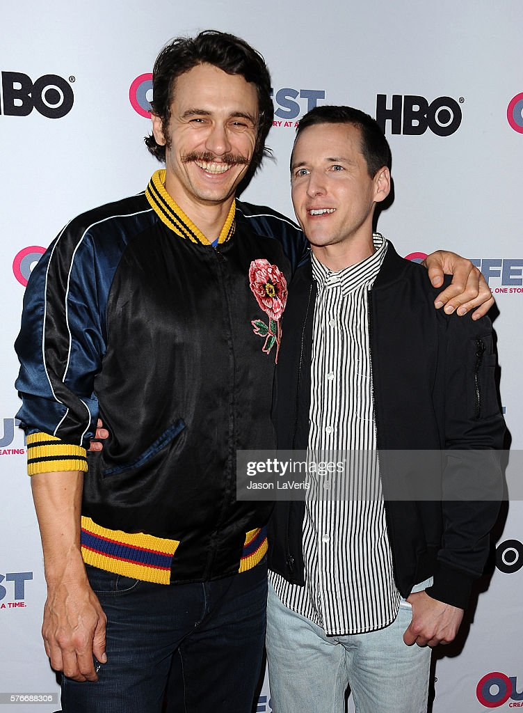 Actor James Franco and director Justin Kelly attend a screening of 'King Cobra' and the presentation of the James Schamus Ally Award at the 2016...