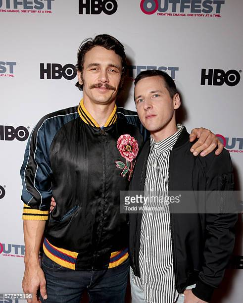 Actor James Franco and writer/director Justin Kelly attend the 2016 Outfest Los Angeles screening of 'King Cobra' and the presentation of the James...