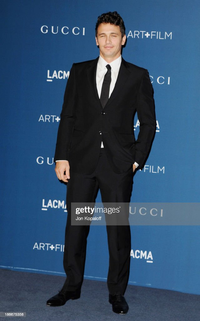 Actor <a gi-track='captionPersonalityLinkClicked' href=/galleries/search?phrase=James+Franco&family=editorial&specificpeople=577480 ng-click='$event.stopPropagation()'>James Franco</a> arrives at LACMA 2013 Art + Film Gala at LACMA on November 2, 2013 in Los Angeles, California.
