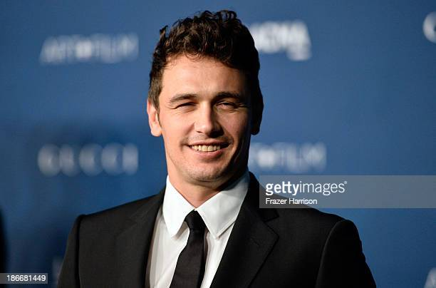 Actor James Franco arrives at the LACMA 2013 Art Film Gala on November 2 2013 in Los Angeles California
