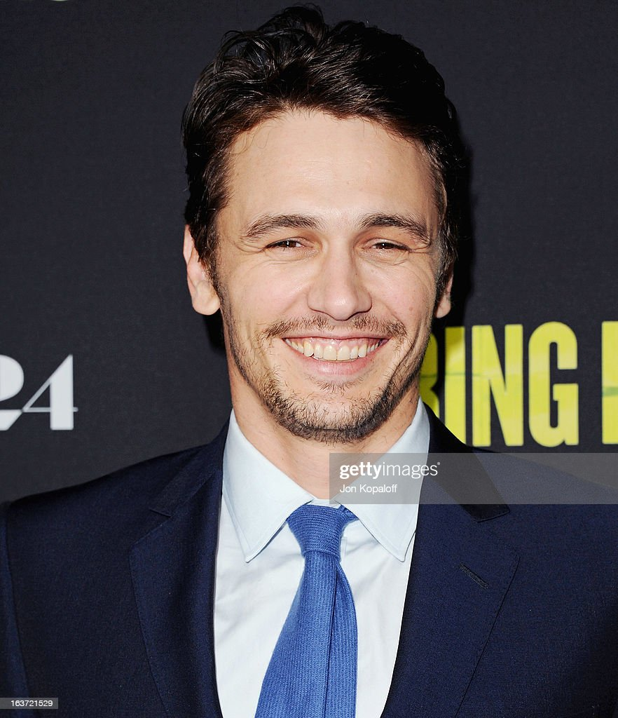 Actor James Franco arrives at the Los Angeles Premiere 'Spring Breakers' at ArcLight Hollywood on March 14, 2013 in Hollywood, California.