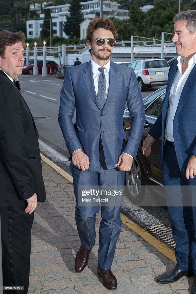 Actor James Franco arrives to attend the 'Vanity Fair Chanel' dinner at 'Tetou' restaurant during the 66th Annual Cannes Film Festival on May 19, 2013 in Le Golfe Juan, France.