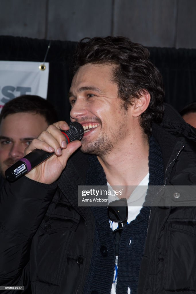 Actor <a gi-track='captionPersonalityLinkClicked' href=/galleries/search?phrase=James+Franco&family=editorial&specificpeople=577480 ng-click='$event.stopPropagation()'>James Franco</a> attends Outfest Queer Brunch - 2013 Park City on January 20, 2013 in Park City, Utah.