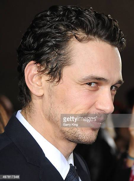 Actor James Franco attends premiere of Columbia Pictures' 'The Night Before' at The Theatre At The Ace Hotel on November 18 2015 in Los Angeles...