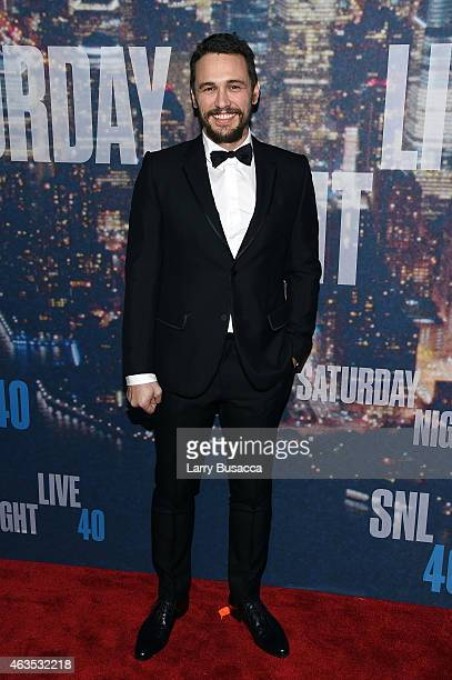 Actor James Franco attends SNL 40th Anniversary Celebration at Rockefeller Plaza on February 15 2015 in New York City