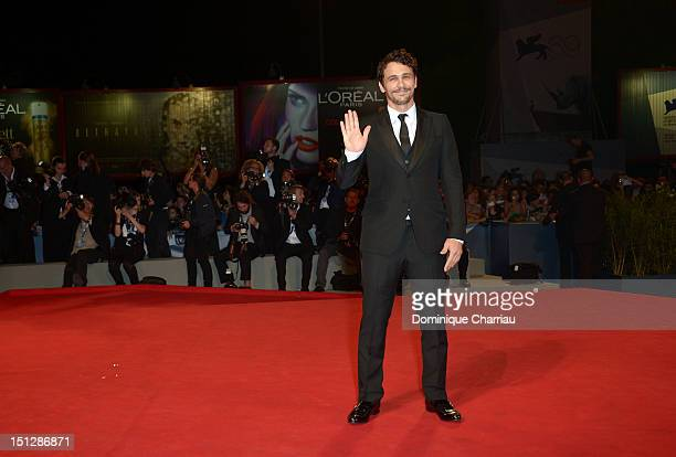 Actor James Franco attends 'Spring Breakers' Premiere during The 69th Venice Film Festival at the Palazzo del Cinema on September 5 2012 in Venice...