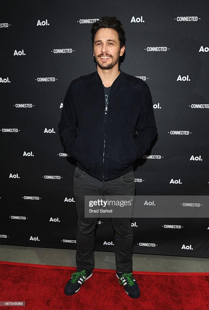 Actor <a gi-track='captionPersonalityLinkClicked' href=/galleries/search?phrase=James+Franco&family=editorial&specificpeople=577480 ng-click='$event.stopPropagation()'>James Franco</a> attends the 2014 AOL NewFronts at Duggal Greenhouse on April 29, 2014 in New York, New York.