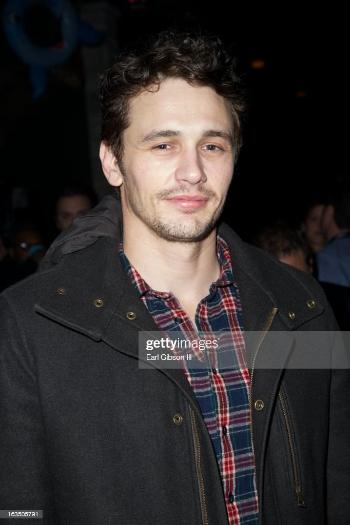 Actor <a gi-track='captionPersonalityLinkClicked' href=/galleries/search?phrase=James+Franco&family=editorial&specificpeople=577480 ng-click='$event.stopPropagation()'>James Franco</a> attends 'The Branding Bee Presents The World Premiere After-Party Of 'Spring Breakers' Live From The Hive at The Ranch on March 10, 2013 in Austin, Texas.