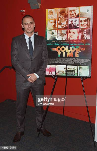 Actor James Franco attends the Cinema Society and Montblanc special screening Of Starz Digital's 'The Color Of Time' at Landmark Sunshine Cinema on...