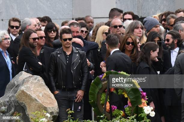 Actor James Franco attends the funeral and memorial service for Soundgarden frontman Chris Cornell May 26 2017 at Hollywood Forever Cemetery in Los...