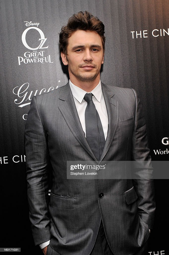 Actor <a gi-track='captionPersonalityLinkClicked' href=/galleries/search?phrase=James+Franco&family=editorial&specificpeople=577480 ng-click='$event.stopPropagation()'>James Franco</a> attends the Gucci and The Cinema Society screening of 'Oz the Great and Powerful' at the DGA Theater on March 5, 2013 in New York City.