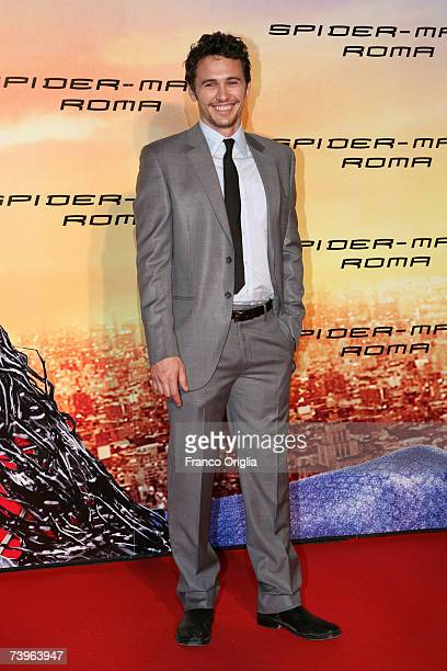 Actor James Franco attends the Italian premiere of the movie 'Spiderman 3' at the Warner Moderno Cinema on April 24 2007 in Rome Italy