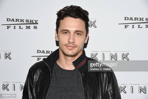 Actor James Franco attends the 'Kink' New York Premiere at IFC Center on August 22 2014 in New York City