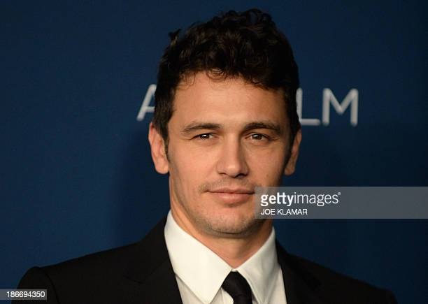 Actor James Franco attends the LACMA 2013 Art Film Gala honoring Martin Scorsese and David Hockney presented by Gucci at LACMA on November 2 2013 in...