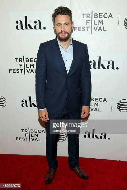 Actor James Franco attends the premiere of 'The Adderall Diaries' during the 2015 Tribeca Film Festival at BMCC Tribeca PAC on April 16 2015 in New...