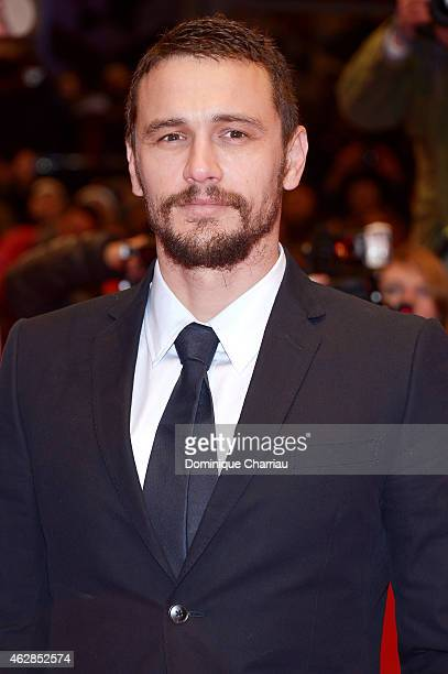 Actor James Franco attends the 'Queen of the Desert' premiere during the 65th Berlinale International Film Festival at Berlinale Palace on February 6...