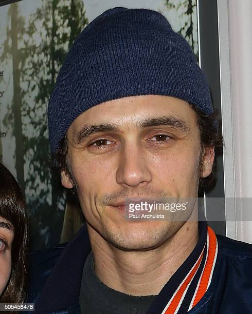 Actor James Franco attends the screening of 'Yosemite' at the Laemmle's Music Hall 3 on January 17 2016 in Beverly Hills California