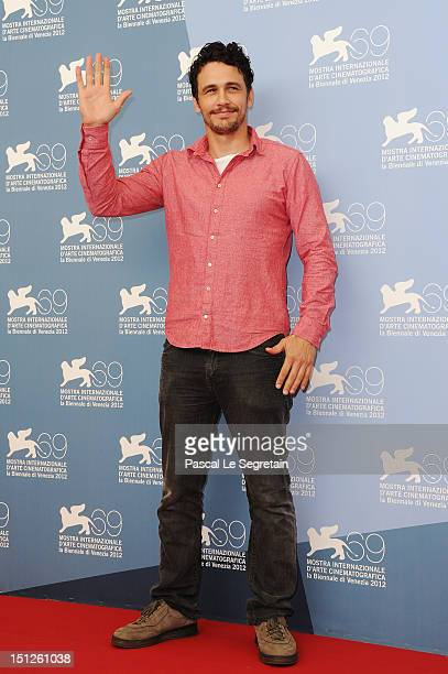 Actor James Franco attends the 'Spring Breakers' Photocall during the 69th Venice Film Festival at the Palazzo del Casino on September 5 2012 in...