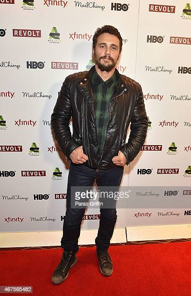 Actor James Franco attends the the screening of 'The Heyday of the Insensitive Bastards' at the 2015 Atlanta Film Festival at Rialto Center for the...