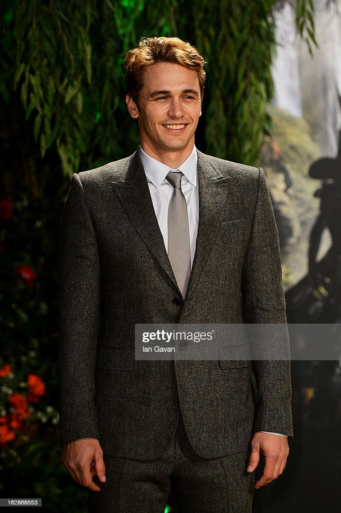Actor James Franco attends the UK film premiere of Oz: The Great and Powerful at the Empire Leicester Square on February 28, 2013 in London, England.
