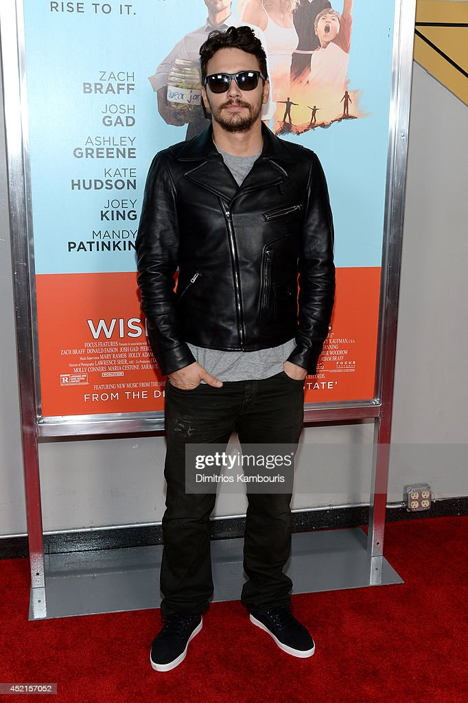 Actor <a gi-track='captionPersonalityLinkClicked' href=/galleries/search?phrase=James+Franco&family=editorial&specificpeople=577480 ng-click='$event.stopPropagation()'>James Franco</a> attends the 'Wish I Was Here' screening at AMC Lincoln Square Theater on July 14, 2014 in New York City.
