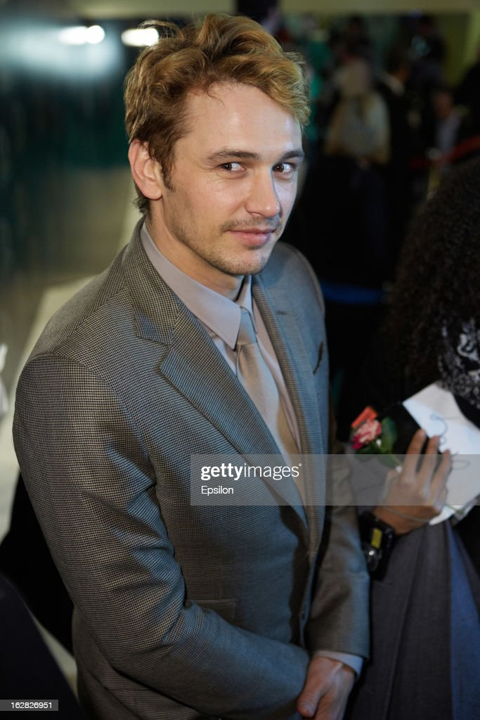 Actor <a gi-track='captionPersonalityLinkClicked' href=/galleries/search?phrase=James+Franco&family=editorial&specificpeople=577480 ng-click='$event.stopPropagation()'>James Franco</a> attends Walt Disney Pictures Moscow premiere of 'Oz The Great And Powerful' - Red Carpet at the Okyabe cinema hall on February 27, 2013 in Moscow, Russia.