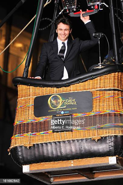 Actor James Franco attends Walt Disney Pictures World Premiere of 'Oz The Great And Powerful' Red Carpet at the El Capitan Theatre on February 13...
