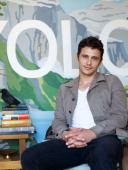 Actor James Franco And HGTV's Emily Henderson Collaborating On The Design Of His Hollywood Forever Cemetery Pop-up At Airbnb's Hello LA Design Lab On Monday, September 23, 2013 In Los Angeles