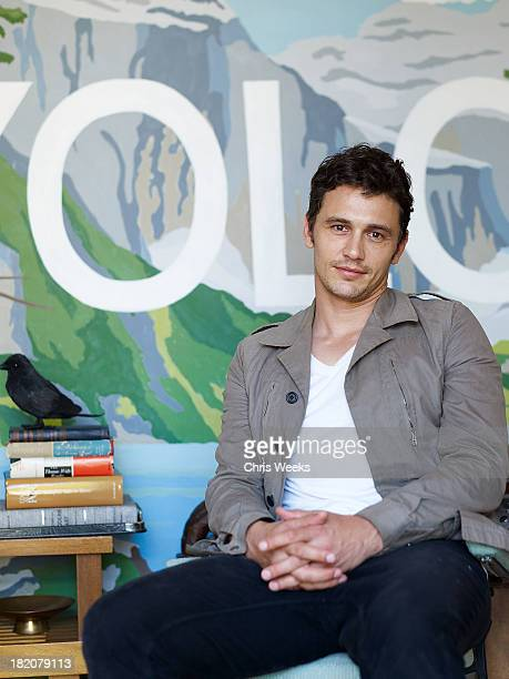 Actor James Franco designs his Hollywood Forever Cemetery PopUp at Airbnb's Hello LA Design Lab on Friday September 27 2013 In Los Angeles