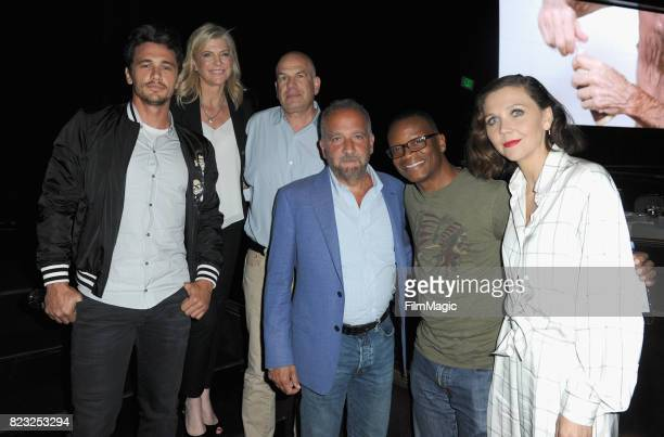 Actor James Franco director Michelle MacLaren executive producers David Simon George Pelecanos actors Lawrence Gilliard Jr and Maggie Gyllenhaal...