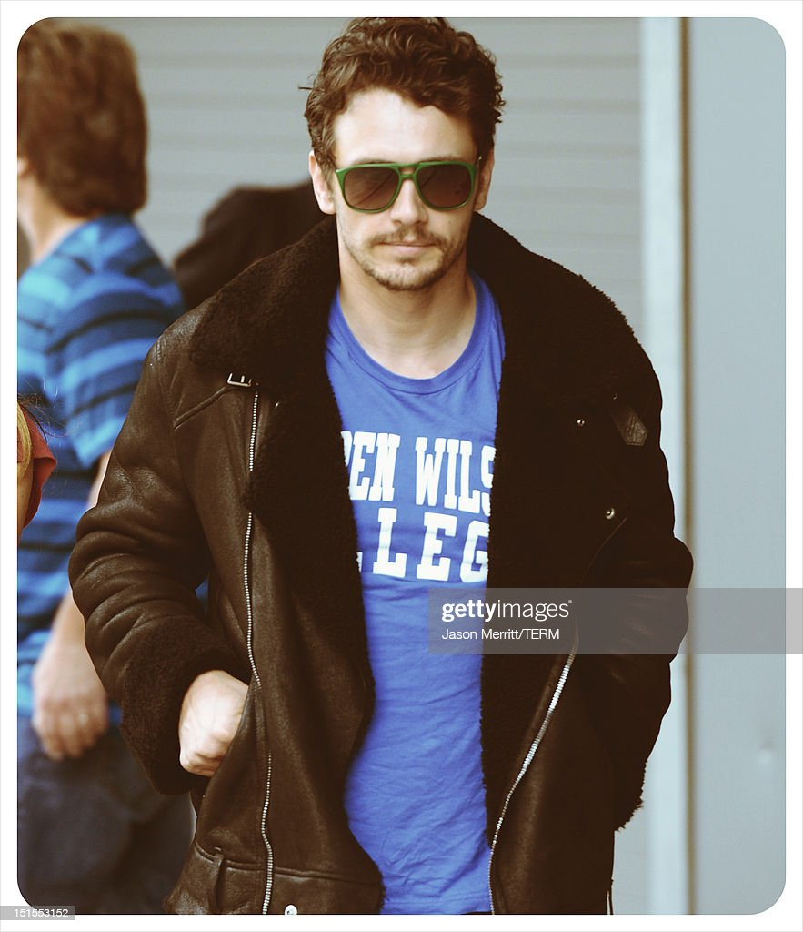 Actor <a gi-track='captionPersonalityLinkClicked' href=/galleries/search?phrase=James+Franco&family=editorial&specificpeople=577480 ng-click='$event.stopPropagation()'>James Franco</a> is seen leaving the 'Spring Breakers' photo call during the 2012 Toronto International Film Festival at TIFF Bell Lightbox on September 7, 2012 in Toronto, Canada.