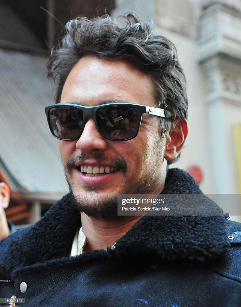 Actor James Franco is seen on March 22, 2014 in New York City.
