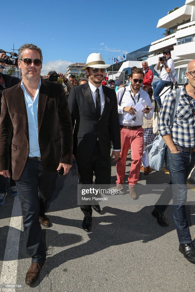 Actor James Franco is seen strolling in the Cannes Harbour during the 66th Annual Cannes Film Festival on May 21, 2013 in Cannes, France.