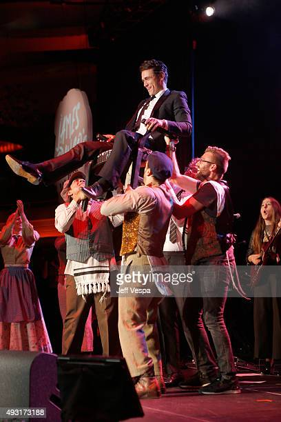 Actor James Franco performs onstage during Hilarity for Charity's Annual Variety Show James Franco's Bar Mitzvah benefitting the Alzheimer's...